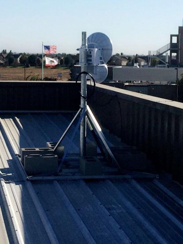 Internet Satellite Dish System Cabling